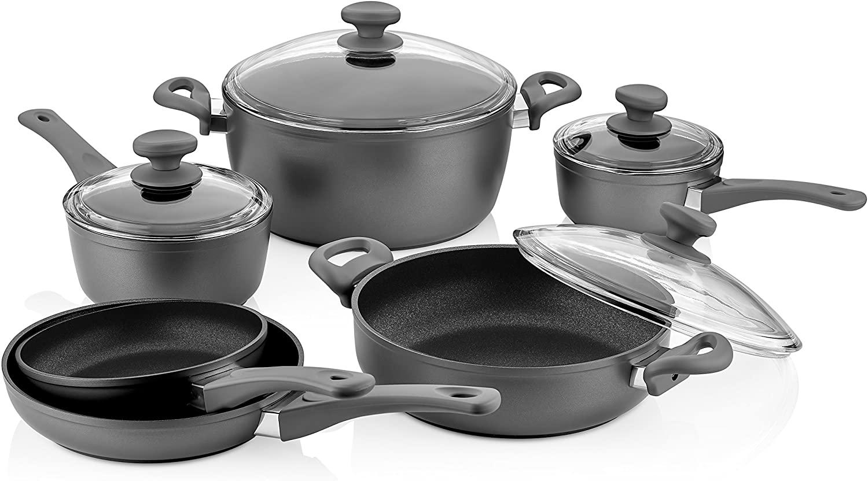 Saflon Titanium Nonstick 10-Piece Cookware Set