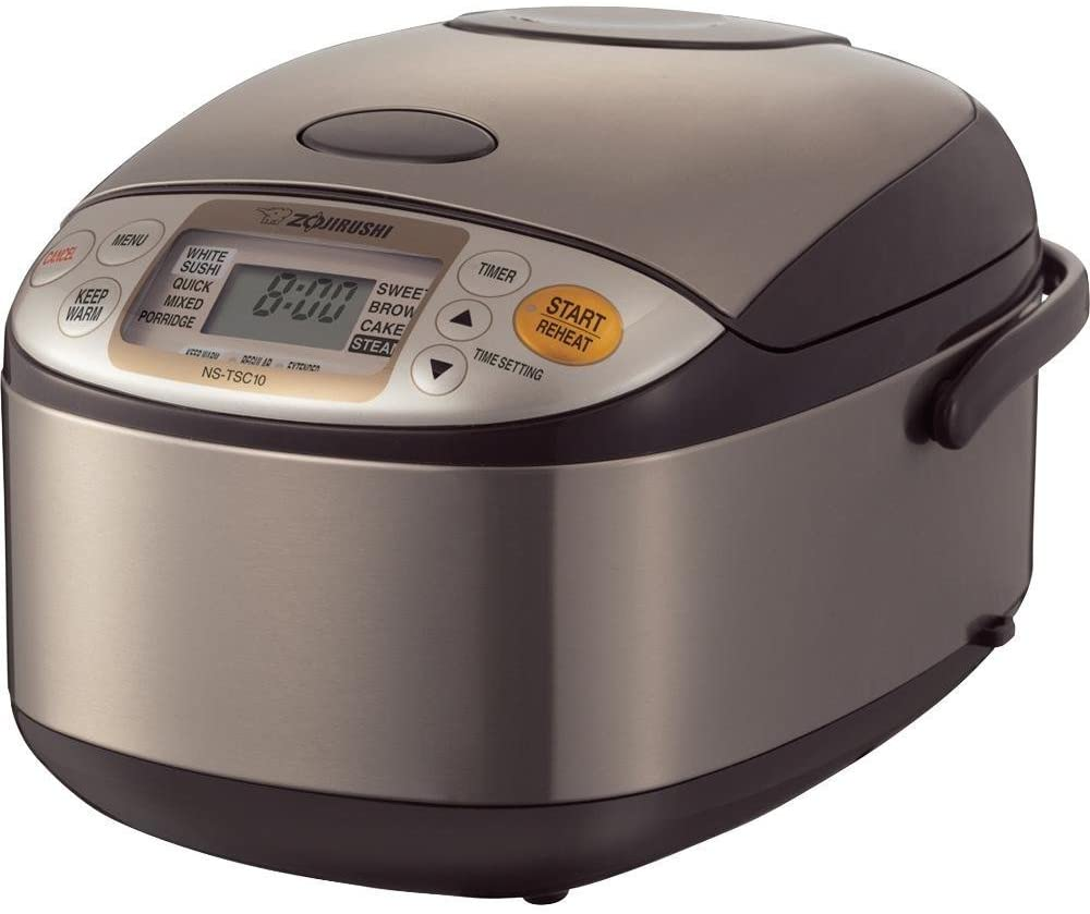 Zojirushi NS-TSC10 Stainless Steel Rice Cooker - Best Overall