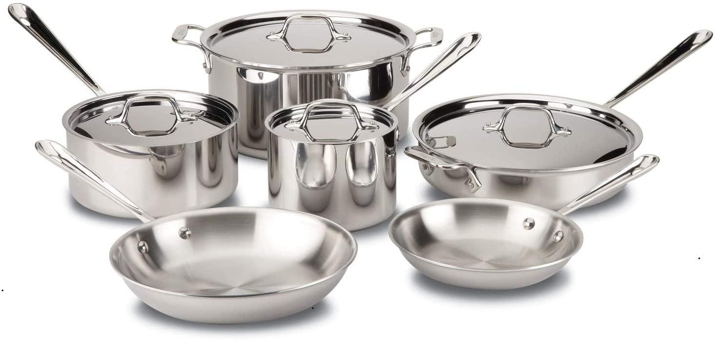 All Clad D3 10-Piece Cookware Set
