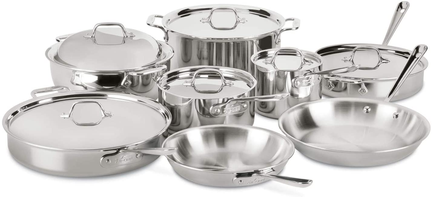 All Clad Tri-Ply Bonded Stainless Steel Set