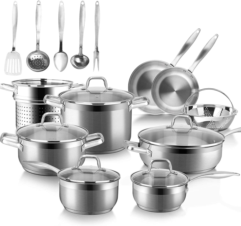 Duxtop Professional 19 Piece Cookware Set