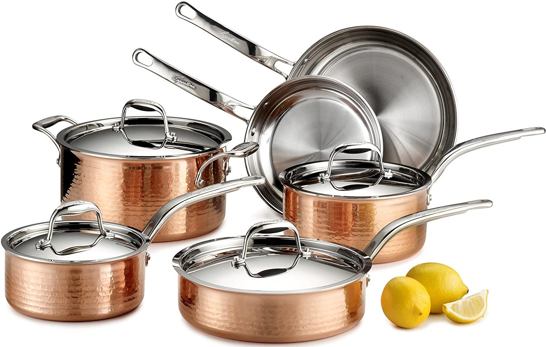 Lagostina Martellata Hammered Copper Exterior Cookware