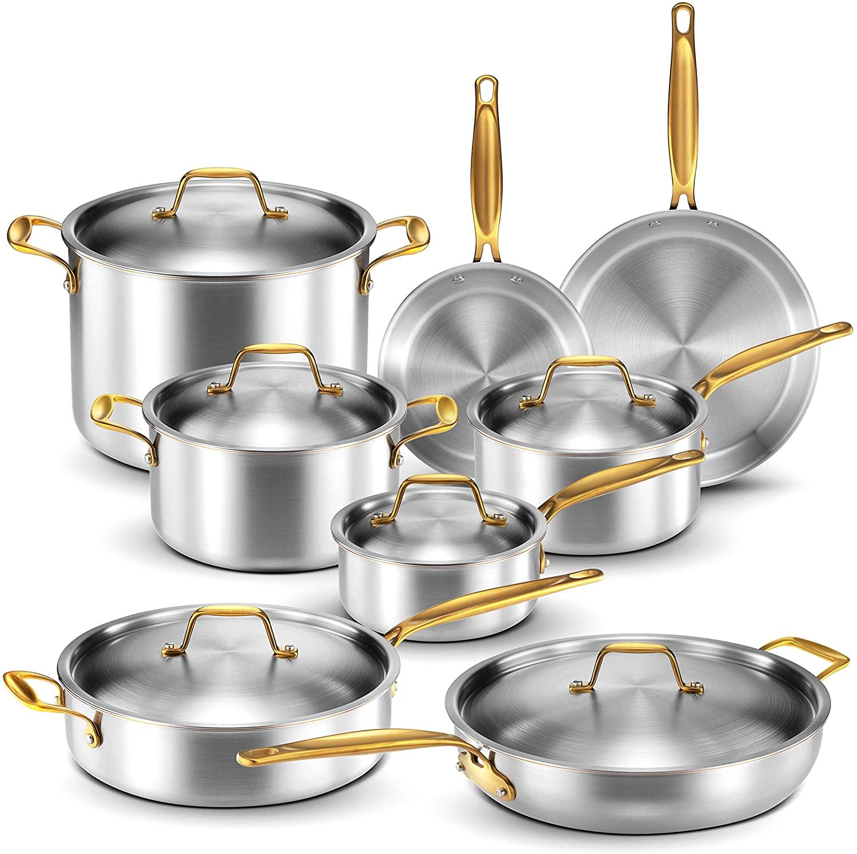 Legend 5 Ply Copper Core 14 Piece Cookware Set