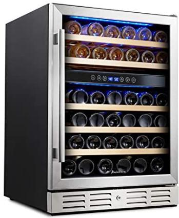 Kalamera 46-bottle Dual-zone Built-in Wine Cooler (Best built-in wine cooler)