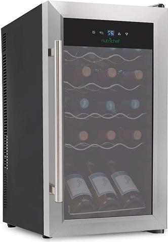 NutriChef 15-bottle Built-in Wine Refrigerator (Best single-zone wine fridge)