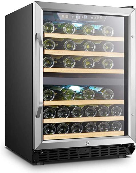 Lanbo 44-bottle Dual-zone Built-in Compressor Wine Cooler