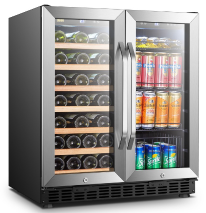 Lanbo Dual-zone Built-in Wine and Beverage Cooler