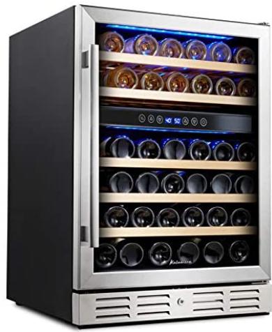 Kalamera Dual-zone 46-bottle Wine Cooler